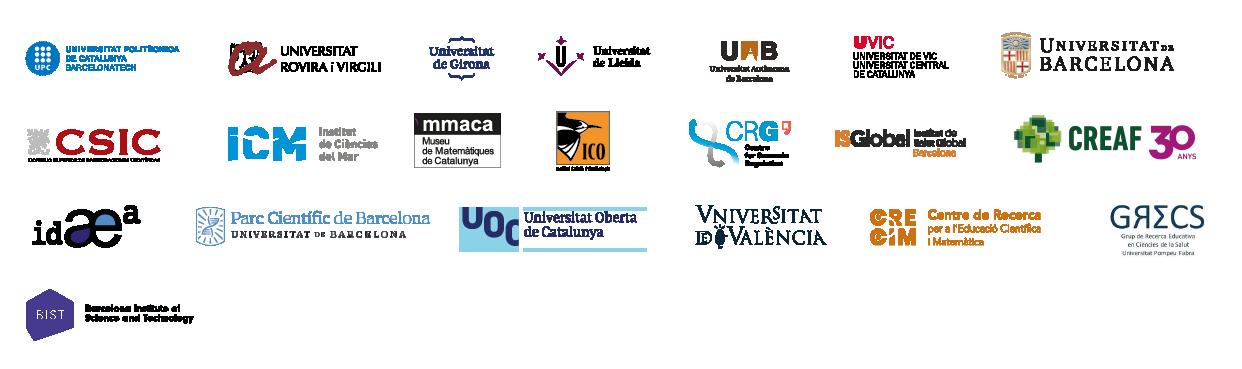 conjunt de logotips d'universitats col·laboradores