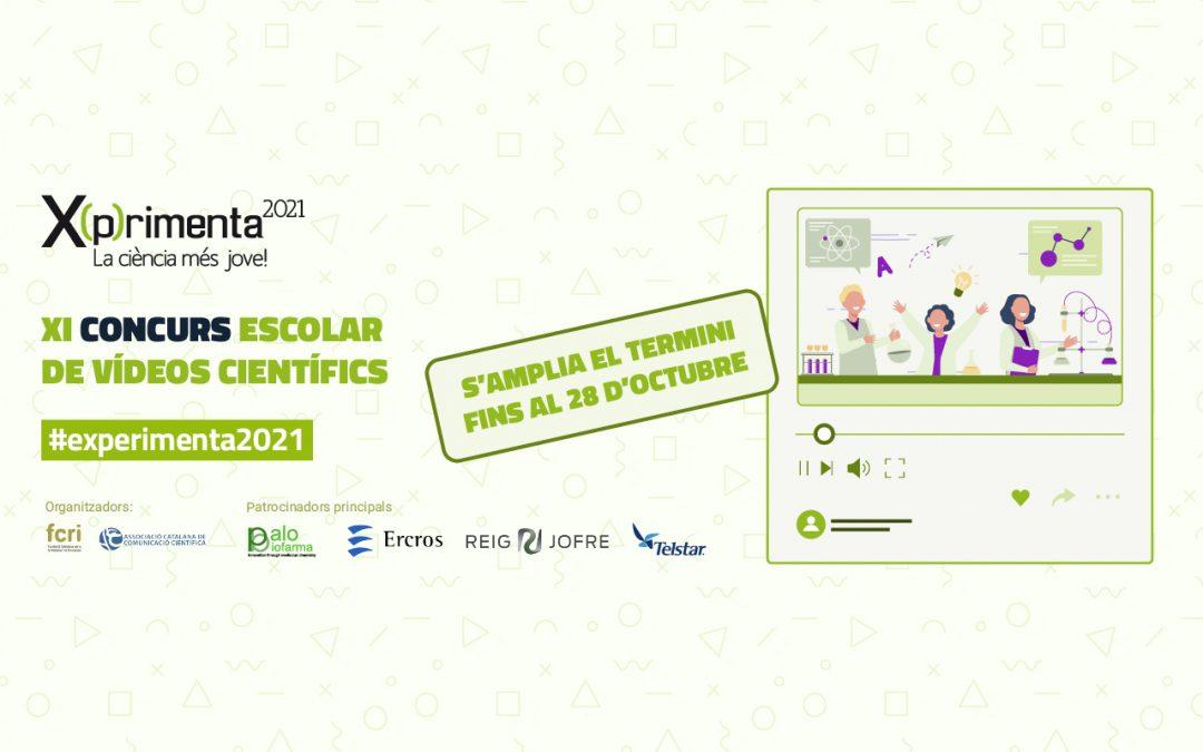 S'amplien els terminis per presentar vídeos d'experiments científics a l'11a edició del concurs X(p)rimenta