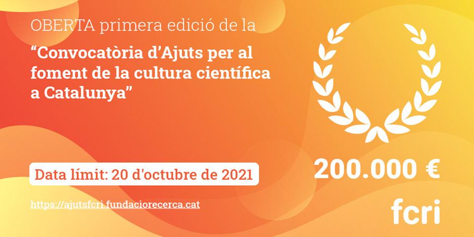 Convocatòria d'una línia d'ajuts a la disseminació científica en català per a joves influencers en xarxes socials, comunicadors consolidats i propostes inèdites